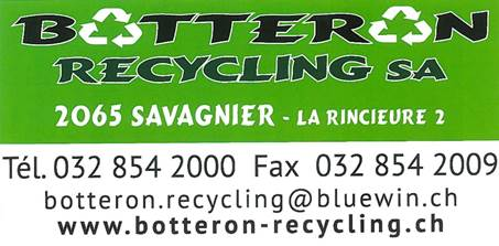 Botteron Recycling SA, Savagnier